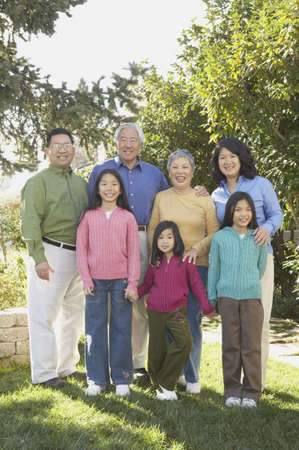 Three generations of an Asian family, San Rafael, California, United States Stock Photo - 16090875