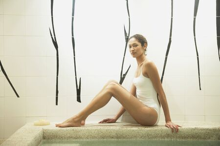 Woman relaxing in spa room Stock Photo - 16091027