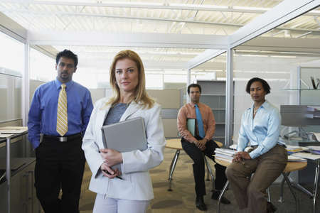Group of businesspeople in office Stock Photo - 16091217