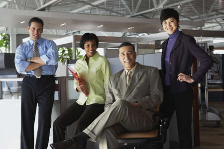 Group of businesspeople in office Stock Photo - 16091238
