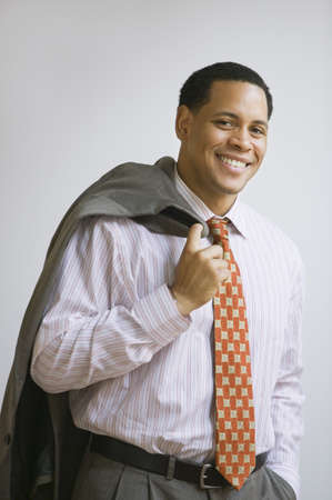 African American businessman with jacket over shoulder Stock Photo - 16091293