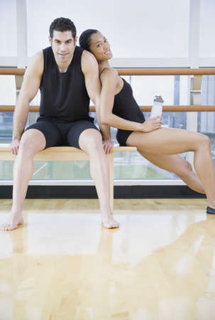 Male and female dancers in dance studio Stock Photo - 16091490