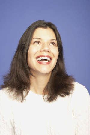 Studio shot of woman laughing Stock Photo - 16091649