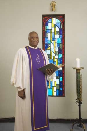 Senior African in church choir gown Stock Photo - 16091812