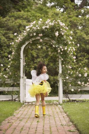 Young Hispanic girl wearing bumble bee costume Stock Photo - 16092008
