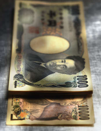 Close up of Yen notes Stock Photo - 16092035