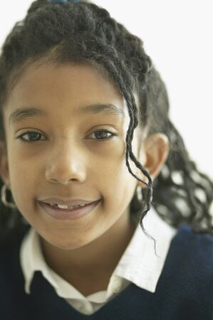jamaican ethnicity: Close up of African girl smiling