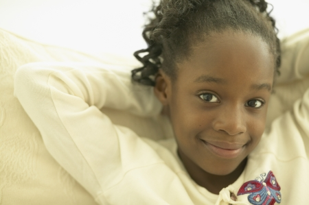 Close up of African girl smiling Stock Photo - 16092472