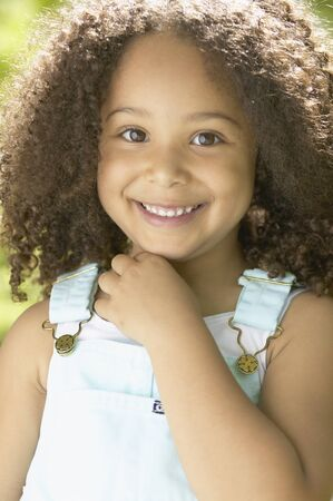 italian ethnicity: Close up of African girl smiling
