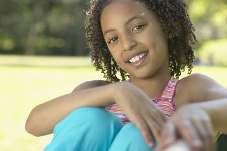 Close up of African girl smiling Stock Photo - 16092514