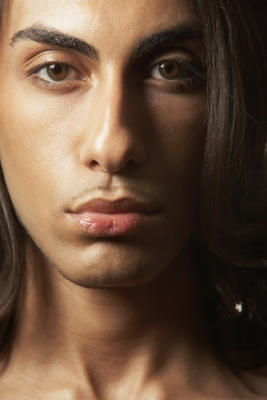 Close up of Middle Eastern man's face Stock Photo - 16092529
