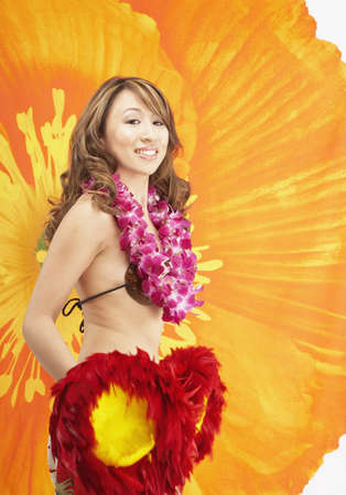 Hawaiian woman hula dancing Stock Photo - 16092648