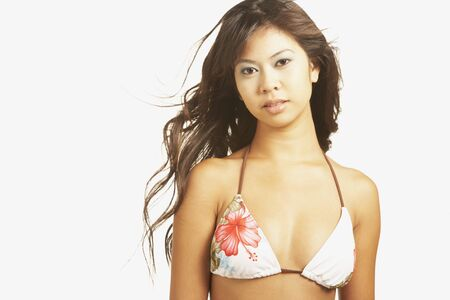 Portrait of Asian woman wearing bikini Stock Photo - 16092780
