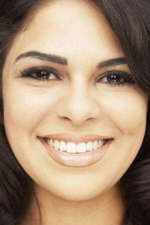 Close up of Hispanic woman smiling Stock Photo - 16092790