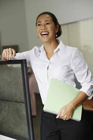 Portrait of Asian businesswoman laughing