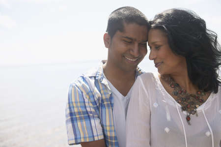 Close up of Indian couple hugging outdoors Stock Photo - 16092982
