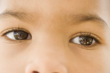 Close up of African girl's eyes Stock Photo - 16093212