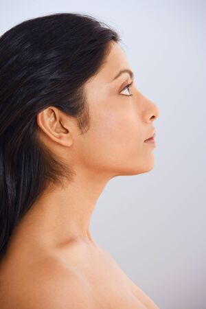 Close up profile of Indian woman Stock Photo - 16093293