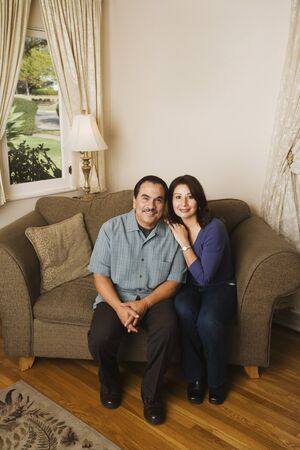 Portrait of middle-aged Hispanic couple Stock Photo - 16093615