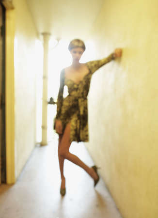 Blurred shot of woman in hallway Stock Photo - 16094509