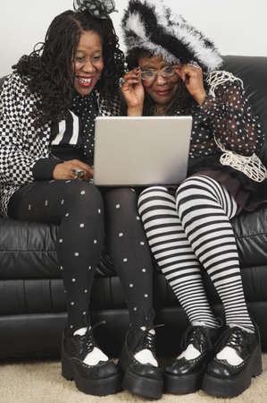 Senior African women looking at laptop Stock Photo - 16094690