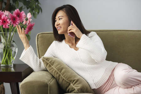 davenport: Asian woman talking on cell phone
