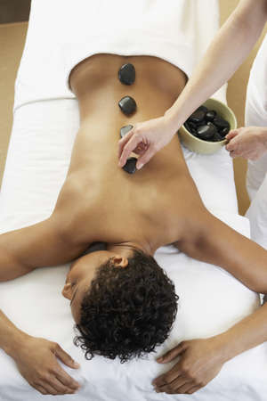 African woman receiving spa treatment Stock Photo - 16094791