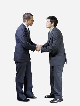 twenty two: Two businessmen shaking hands