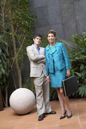 Portrait of Hispanic businesswoman and businessman Stock Photo - 16094803
