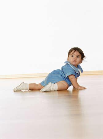 Egyptian baby crawling