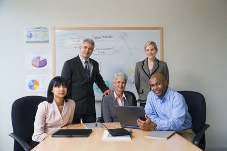 Multi-ethnic businesspeople at meeting Stock Photo - 16094871