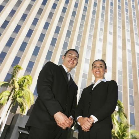 Low angle view of Hispanic businesspeople Stock Photo - 16094901