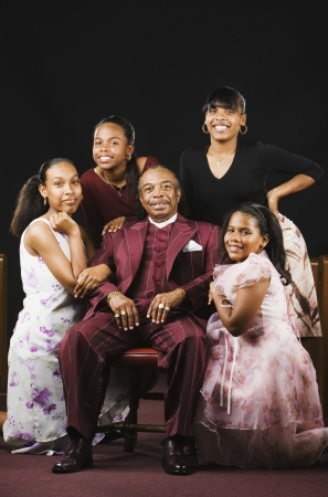 Portrait of well dressed African family Stock Photo - 16094915