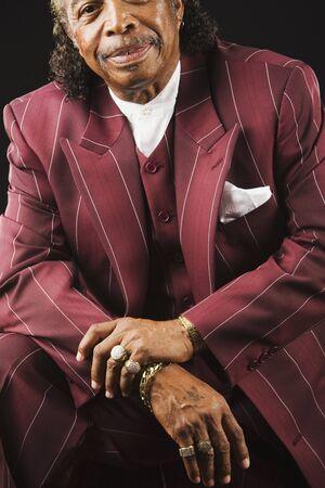 Senior African man wearing suit Stock Photo - 16094917