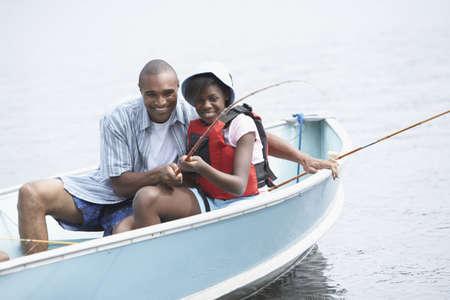 인내: 아프리카 아버지와 딸 낚시