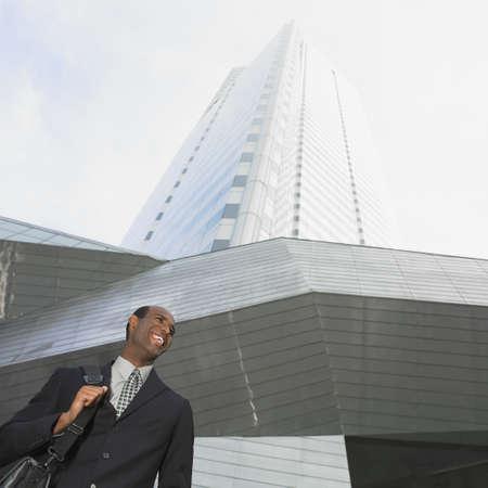 African businessman in urban scene Stock Photo - 16095076