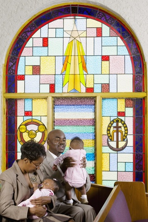African American family in church Stock Photo - 16095123