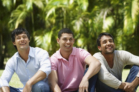 south western european descent: South American men laughing