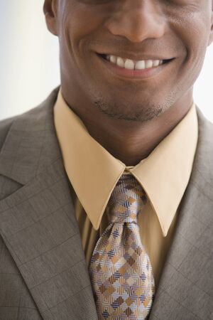 Close up of African American businessman Stock Photo - 16095300