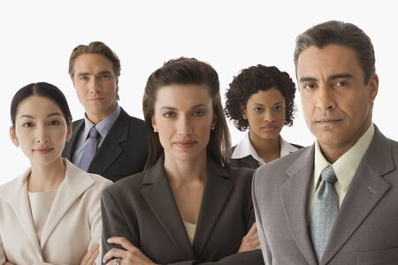 Portrait of multi-ethnic businesspeople Stock Photo - 16095311
