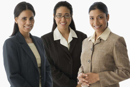 3 persons only: Portrait of multi-ethnic businesswomen