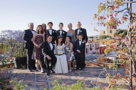 Hispanic family at Quinceanera Stock Photo - 16095362