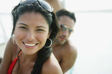 South American woman in bathing suit Stock Photo - 16095635