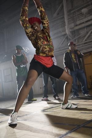 jamaican ethnicity: African woman breakdancing