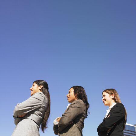 Ethnic-ethnic businesswomen with arms crossed Stock Photo - 16096055