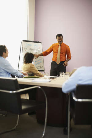 African businessman giving presentation