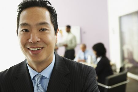 Close up of Asian businessman Stock Photo - 16096118