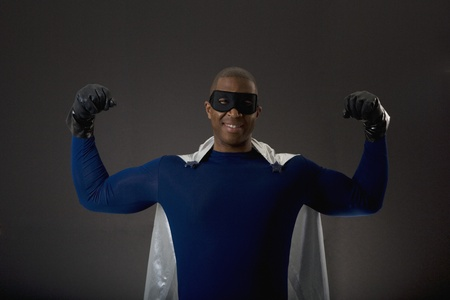 African male super hero flexing muscles Stock Photo - 16096160