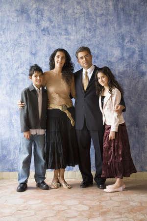 Portrait of Hispanic family Stock Photo - 16096177