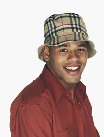Young African man wearing hat Stock Photo - 16096259